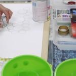 2012年1月26日(木) 「まる・しかくで色がいっぱい!!+透明スライムづくり」SARASA,KEITA,MARINA,ENA,NOZOMI,MEI