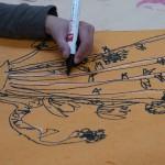 2012年3月1日(木) 「桃の花とひしもちを見て描こう」