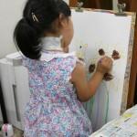 2012年7月13日(金)「青い花瓶のひまわりの花」