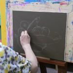 2012年8月22日(水)1日絵画教室「アクリル画で夏野菜を描く」