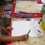 2012年9月6日(木)「おみせやさん(商店街)を描こう」
