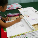 2012年9月20日(木)「おみせやさん(商店街)を描こう」