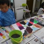 2012年10月18日(木)「ひっかき絵とペン画でネガポジもよう」