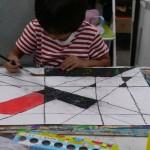 2012年10月19日(金)「ひっかき絵とペン画でネガポジもよう」