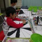 2012年10月20日(土)「ひっかき絵とペン画でネガポジもよう」