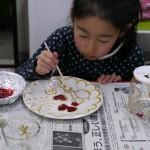 2012年12月13日(木)「ガラス絵を描こう」 着色