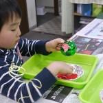 2012年12月21日(金)「砂絵オーナメントボールとクリスマスカード」