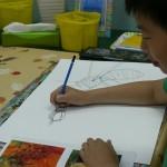 2013年6月21日(金)「テーマは自由。描きたい絵をかいてみよう。1」