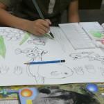 2013年7月6日(土)「テーマは自由。描きたい絵をかいてみよう。2」