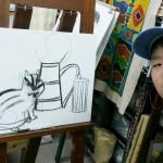 2013年11月5日(火)  油絵  「音楽をしているときのこと 1」