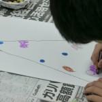 2013年12月19日(木)  「クリスマスツリー(クレヨン画)+砂絵カップ」