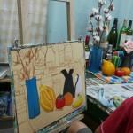 2014年8月7日(木)「アクリル画で静物を描こう」