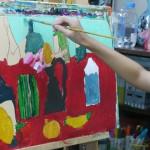 2014年8月24日(日)「アクリル画で静物を描こう」