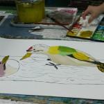 2015年2月12日(木)「鳥を描こう」 「城を描こう」