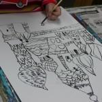 2015年2月15日(日)「鳥を描こう」 「城を描こう」