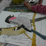 2015年2月19日(木)「鳥を描こう」 「城を描こう」