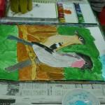 2015年3月5日(木)「鳥を描こう」 「城を描こう」