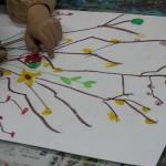 2015年3月6日(金)「鳥を描こう」 「城を描こう」「びっくりフラワーバスケット」