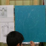 2017年1月17日(火)「キャンバスに描こう(自由課題)」