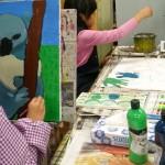 2018年2月14日(水)「キャンバスに描こう」「手のひらがいっぱい」
