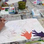 2018年2月16日(金)「キャンバスに描こう」「手のひらがいっぱい」