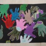 2018年2月21日(水)「キャンバスに描こう」「手のひらがいっぱい」