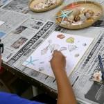 2018年8月25日(土)「色紙に貝殻を描こう」