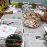 2018年8月28日(火)「色紙に貝殻を描こう」
