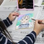2019年1月7日(月)「豆色紙に描く自画像」