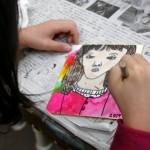 2019年1月11日(金)「豆色紙に描く自画像」
