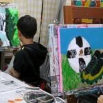 2019年2月12日(火)「キャンバスに描こう」「北斎に挑戦!」