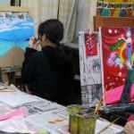 2019年2月17日(日)「キャンバスに描こう」「北斎に挑戦!」