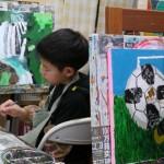 2019年2月19日(火)「キャンバスに描こう」「北斎に挑戦!」