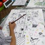 2019年6月10日(月)「商店街の絵本」「おもしろい花・木」「鉛筆デッサン(中高)」