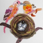 2019年7月8日(月)「おもしろい花・おもしろい木」「鳥の巣つくろう」「有名人の肖像(中高)」