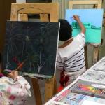 2019年9月3日(火)「メモクリップスタンド」「キャンバスに描こう」「空想動物(中高)」