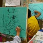 2019年9月5日(木)「キャンバスに描こう」「空想動物(中高)」