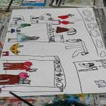 2020年2月21日(金)「キャンバスに描こう(自由課題)」「フルーツの世界」