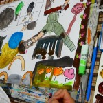 2020年9月4日(金)「公園で遊んでいるところ・鉛筆デッサン」
