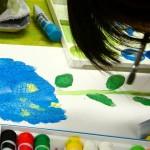 2021年6月14日(月)「あじさいの水彩画」「キャンバスに描こう」